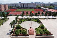 江苏省海安县紫石中学秀丽校园风光